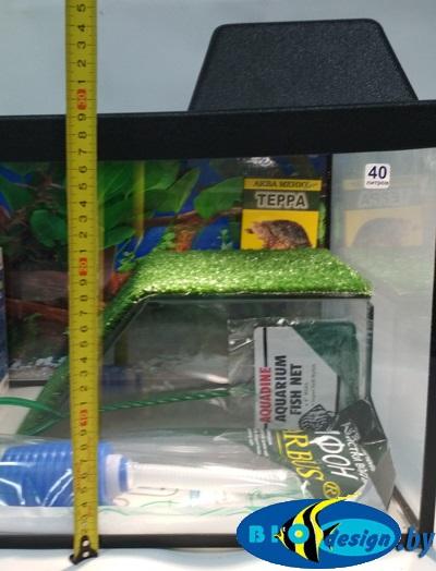 Террариум 40 литров для красноухих черепах (комплект с оборудованием)