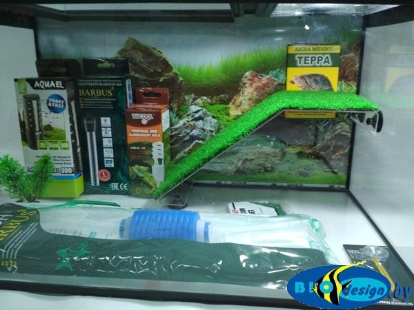 Террариум 50 литров для красноухих черепах (комплект с УФ лампой)