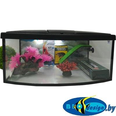 Террариум панорама для красноухих черепах ТВ-30 литров (комплект)