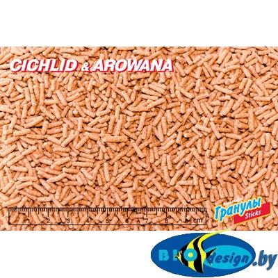 Корм Биодизайн Цихлид&Арована-стикс (расфасовка) 1 литр