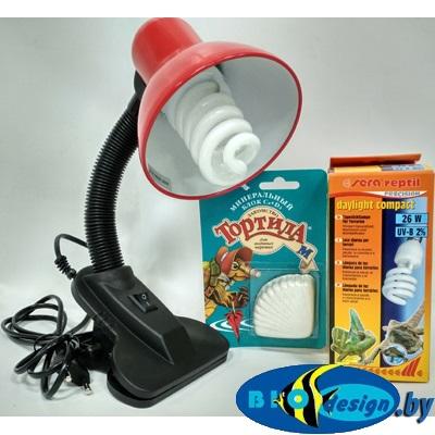 Лампа для террариума (лампа для черепах) Германия комплект 3 в 1