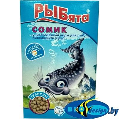 РЫБЯТА СОМИК гранулы, универсальный корм для рыб, питающихся у дна