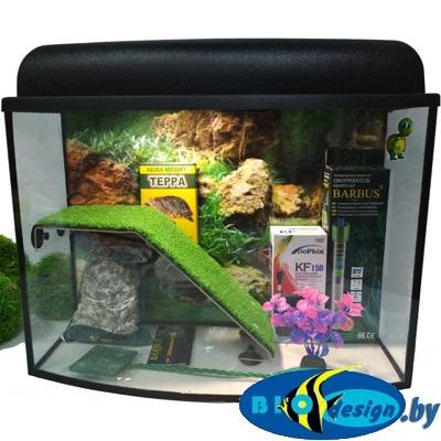Террариум ТЕЛЕВИЗОР 30 для красноухих черепах (комплект)