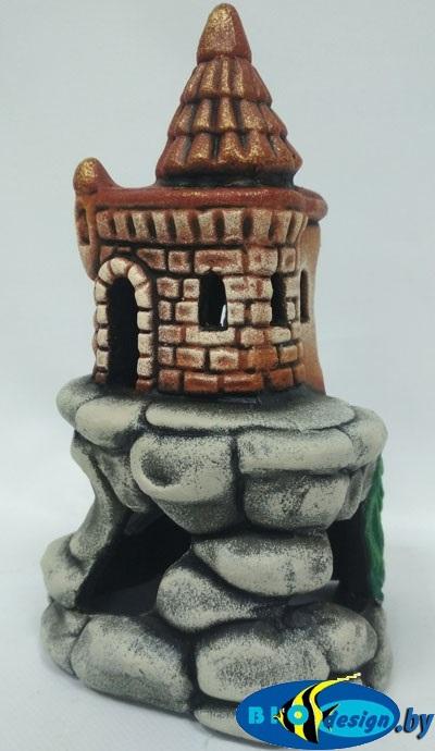 Аквариумный декор Замок на скале К-47
