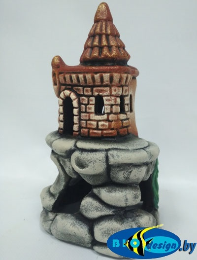 купить Аквариумный декор Замок на скале К-47
