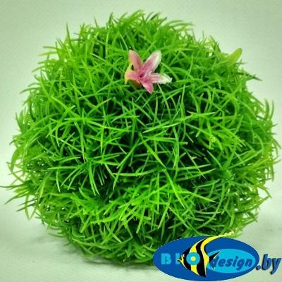 Растение для аквариума пластиковое Шар 1, 10 см