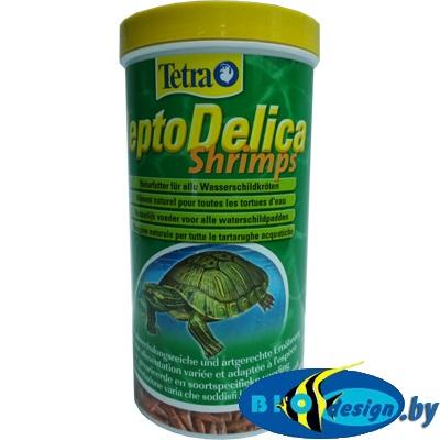 TETRA ReptoDelica Shrimps 1000ml/100g деликатес из креветок - натуральное лакомство для водных черепах