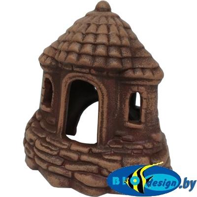 аквариумные декорации в Минске купить Замок-шатёр (шоколад) Р-05