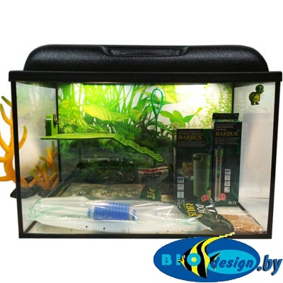 Аквариум для красноухих черепах 60 литров (комплект)