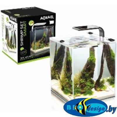 AquaEL SHRIMP SET SMART PLANT 10 (черный), Креветкариум с LED освещением (3 вт)