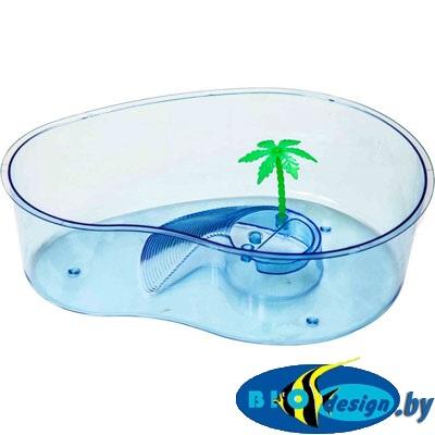 BOX 012 Черепашник с островком и пальмой, 32х23х9,5 см