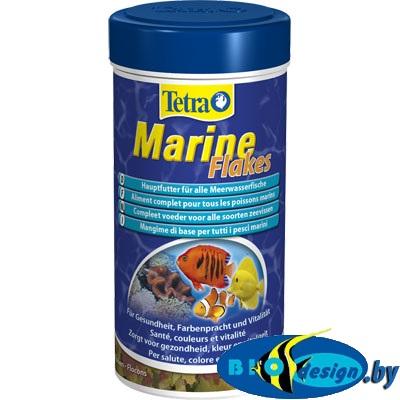 Tetra Marine Flakes 250 ml (хлопья) основной корм для мелких и средних морских рыб