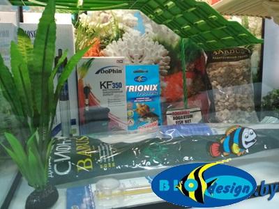 Аквариум для красноухих черепах DOUBLE BRIDGE 50 литров (комплект)