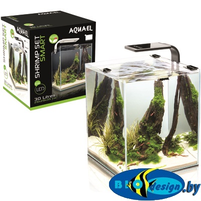 AquaEL SHRIMP SET SMART PLANT 20 (черный), Креветкариум с LED освещением (6 вт)