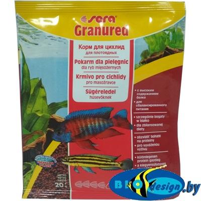 SERA granured гранулы 20гр - корм для плотоядных цихлид (гранулы)