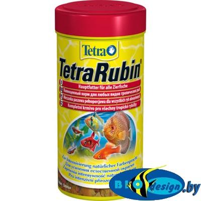 Tetra Rubin 250 мл - корм для улучшения окраски рыб (хлопья)