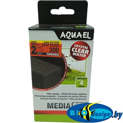 Cмeнные губки Aquael ASAP 300 с углем (2 шт.)