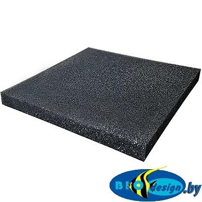 Губка высокопористая чёрная 001, 50х50х5 см