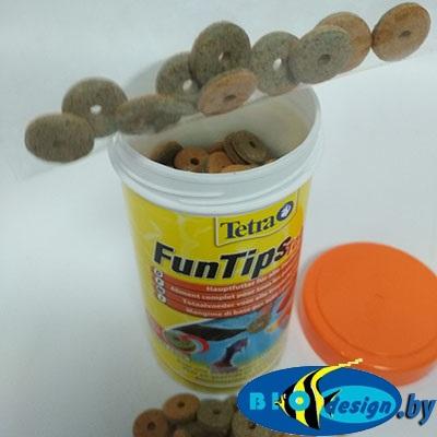 Корм для всех рыб, приклеивается к стеклу аквариума Tetra Fun Tips (таблетки на развес 10 шт.)