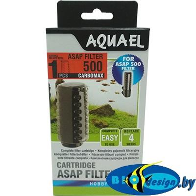 Сменный картридж Aquael ASAP 500 c губкой и углем