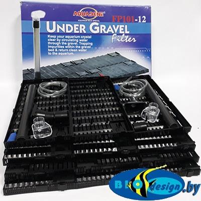 Донные фильтры (Фальш-дно): Донный фильтр KW Zone Under Gravel Filter FP 101-12, 117×44х2.5 см
