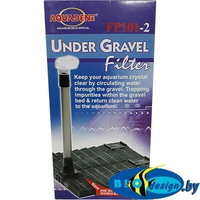 Донные фильтры (Фальш-дно): Донный фильтр KW Zone Under Gravel Filter FP 101-2, 29х29х2.5 см