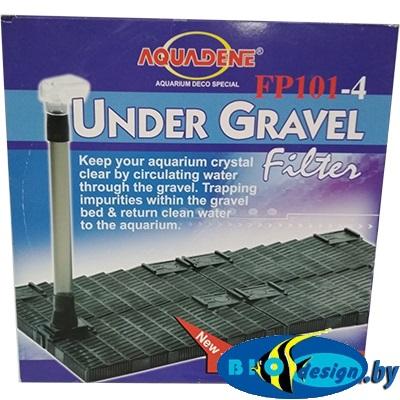 Донные фильтры (Фальш-дно): Донный фильтр KW Zone Under Gravel Filter FP 101-4, 59×30х2.5 см