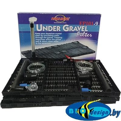 Донные фильтры (Фальш-дно): Донный фильтр KW Zone Under Gravel Filter FP 101-9, 86x43х2.5 см