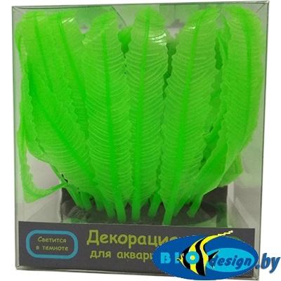 Флуорисцентная аквариумная декорация GL-268230 GLOXY Морская лилия зеленая, 10х7,5х11см