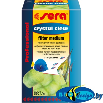 Sera Фильтрующий материал Crystal Clear Professional 12 шт. (кристально чистая вода)