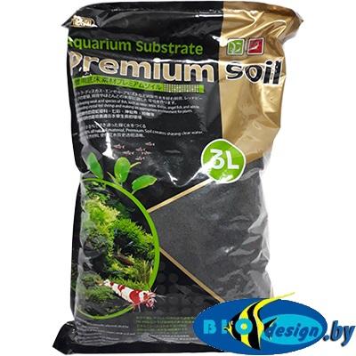 Субстрат для аквариумных растений и креветок премиум класса 3 л, гранулы 1,5-3,5 мм