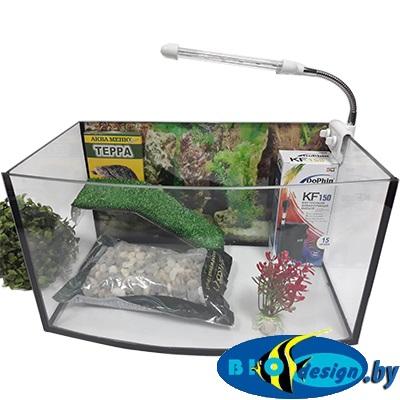 Аква-террариум панорама для черепах ТВ-15 литров (комплект)