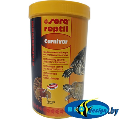 SERA reptil Professional Carnivor 1000 мл, корм для черепах и рептилий