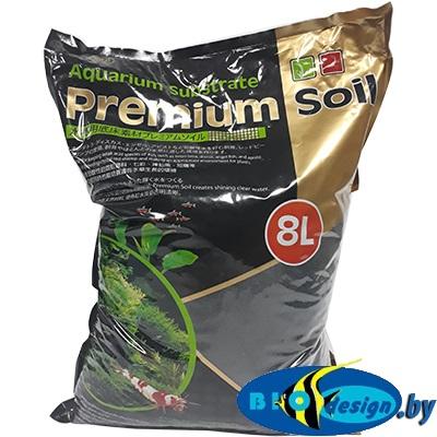 Субстрат для аквариумных растений и креветок премиум класса 8 л, гранулы 1,5-3,5 мм