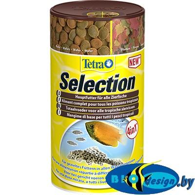 Tetra Selection 4 в 1 (хлопья, чипсы, гранулы, вафер микс) 250 мл, 95 грамм