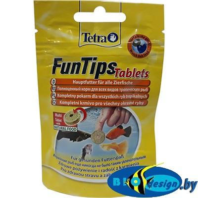 Корм для всех видов рыб Tetra FunTips Tablets 20 табл., можно приклеивать к стеклу аквариума