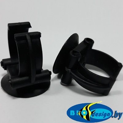 Присоска силиконовая с держателем (черная) для терморегулятора
