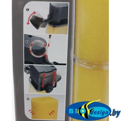 Внутренний фильтр Hidom AP-1600F, 25 W, 1200л/ч, до 300 литров, с регулятором и дождиком