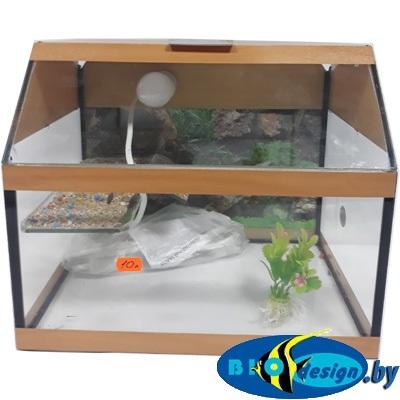 Аква-террариум 10 л для красноухих черепах цвет БУК