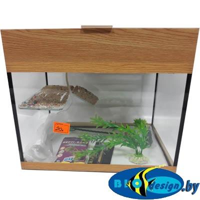 Аква-террариум 20 л прямоугольный для красноухих черепах цвет БУК КЛАССИК