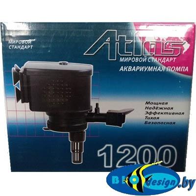 Помпа для фильтрации воды в аквариуме Atlas AT-1200